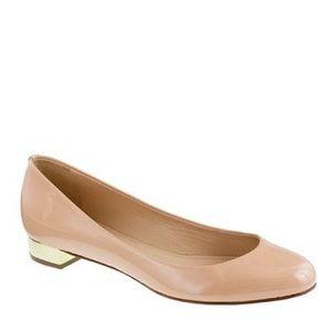J.CREW Janey Blush Pink Block Heel Flats 7.5